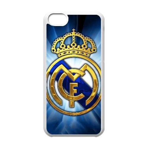 Q3H67 Real Madrid J8P6CT cas d'coque iPhone de téléphone cellulaire 5c couvercle coque blanche DF5FSN2WE