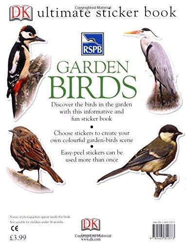 Rspb garden birds ultimate sticker book ultimate stickers amazon co uk ben hoare 9781405311373 books