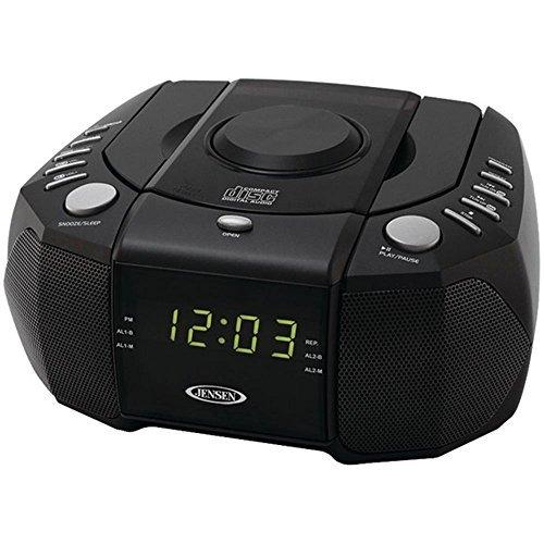 Jensen JCR-310 CD Player Dual Alarm Clock Radio AM/FM Black Consumer electronics