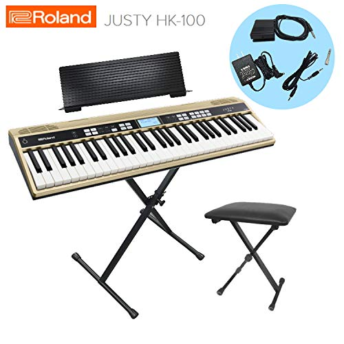 ローランド キーボード キーボード JUSTY HK-100 JUSTY/Roland【X型スタンド/キーボード椅子付き HK-100/Roland】 B07JVW2HF8, 北波多村:dcdcd8c3 --- pvosasco.org.br