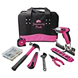 SP128HK101- SERIOUSLY PINK 128PC LADY HOUSEHOLD TOOL KIT