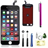 LCD Touch Screen Digitizer Frame Assembly Replacement Set for iPhone 6 - Black