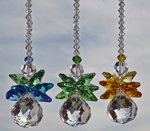 Beads Crystal 16 Facet (Car Suncatcher, Crystal Guardian Angel, Rear View Mirror Car Charm, Travel Protection, Rainbow Maker, Crystal Ball Sun Catcher, Anniversary gift,)