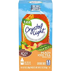 Well-Being-Matters 51YCt0z-e3L._SS300_ Crystal Light Peach Iced Tea Drink Mix (10 On-the-Go Packets)