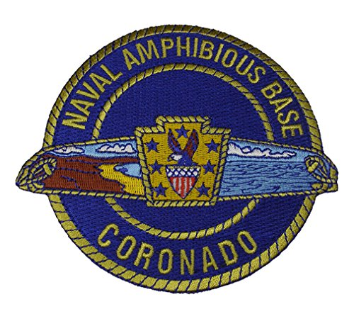 NAVAL AMPHIBIOUS BASE CORONADO Round Patch - Brilliant Colors - Veteran Owned Business.
