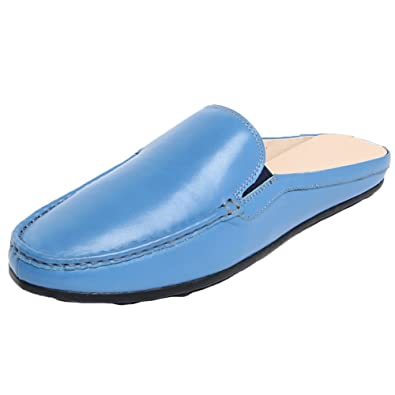 Mules Slippers Clog Men Comfortable Simply Leather Slip on Shoes Casual Loafers