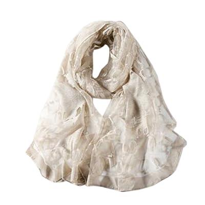 Écharpe en soie de mode Foulard Écharpes châle Élégant Écharpes en dentelle