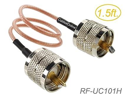 UHF PL259 Male to UHF PL259 Male 50-Ohm RG316
