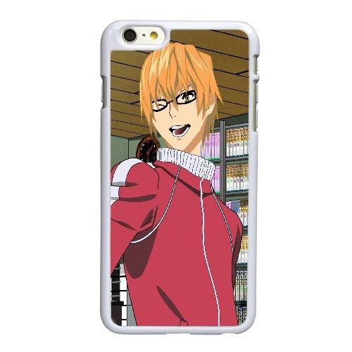 D5P16 Bakuman Akito Takagi verres blond geste doigt V2F3OY coque iPhone 6 Plus de 5,5 pouces cas de couverture de téléphone portable coque blanche DF7DVT1NQ