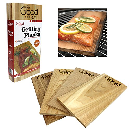 Big Save! Grilling Planks - Outdoor Barbeque Smoking Grill Planks - Set of 4 Cedar Flavored