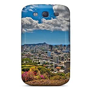 Galaxy Case - Tpu Case Protective For Galaxy S3- Panoramic View Of Honolulu Hawaii Hdr
