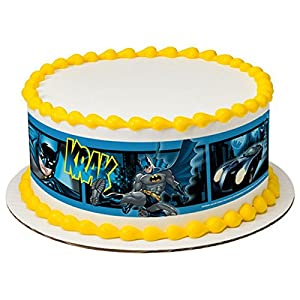 Amazoncom Licensed Batman Birthday Designer Strips Edible Cake