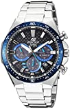 Casio Men's 'Edifice' Quartz Stainless Steel Casual Watch, Color:Silver-Toned (Model: EQS-800CDB-1BVCF)