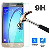 For Galaxy J3 2016, Leathlux [0.26mm] Premium Ultra Thin Tempered Glass Film 9H Hardness HD Clear Toughened glass Screen Protector Cover for Samsung Galaxy J3 (2016) J320F J320P J3109 J320M J320Y 5.0""