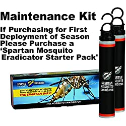 SPARTAN MOSQUITO ERADICATOR 1-ACRE MAINTENANCE PACK: Mosquito Control. Best Whole Yard Outdoor Killer Barrier Solution; Better Than Short Term Insect Repellent Mosquito Free Backyard Garden Patio