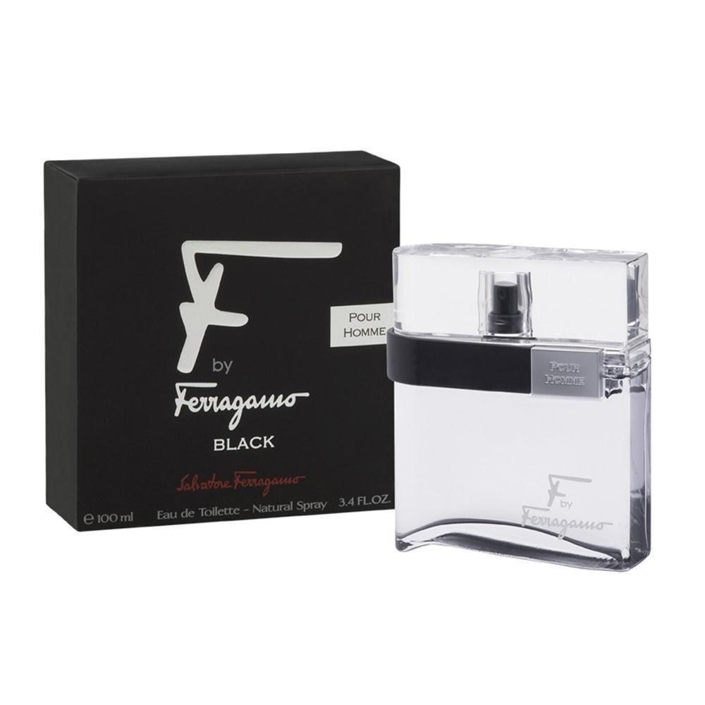 Salvatore Ferragamo F Ferragamo Black By Salvatore Ferragamo For Men Eau De Toilette Spray, 3.4-Ounce/100 Ml