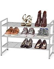SimpleHouseware 3-Tier Stackable Shoes Rack Storage Shelf
