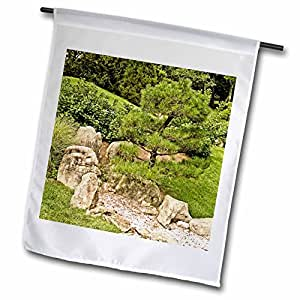 Boehm Photography Garden - Japanese Garden with Pine and Rocks - 18 x 27 inch Garden Flag (fl_63013_2)