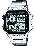 CASIO AE-1200WHD-1A - Reloj de pulsera, para hombre, color plateado