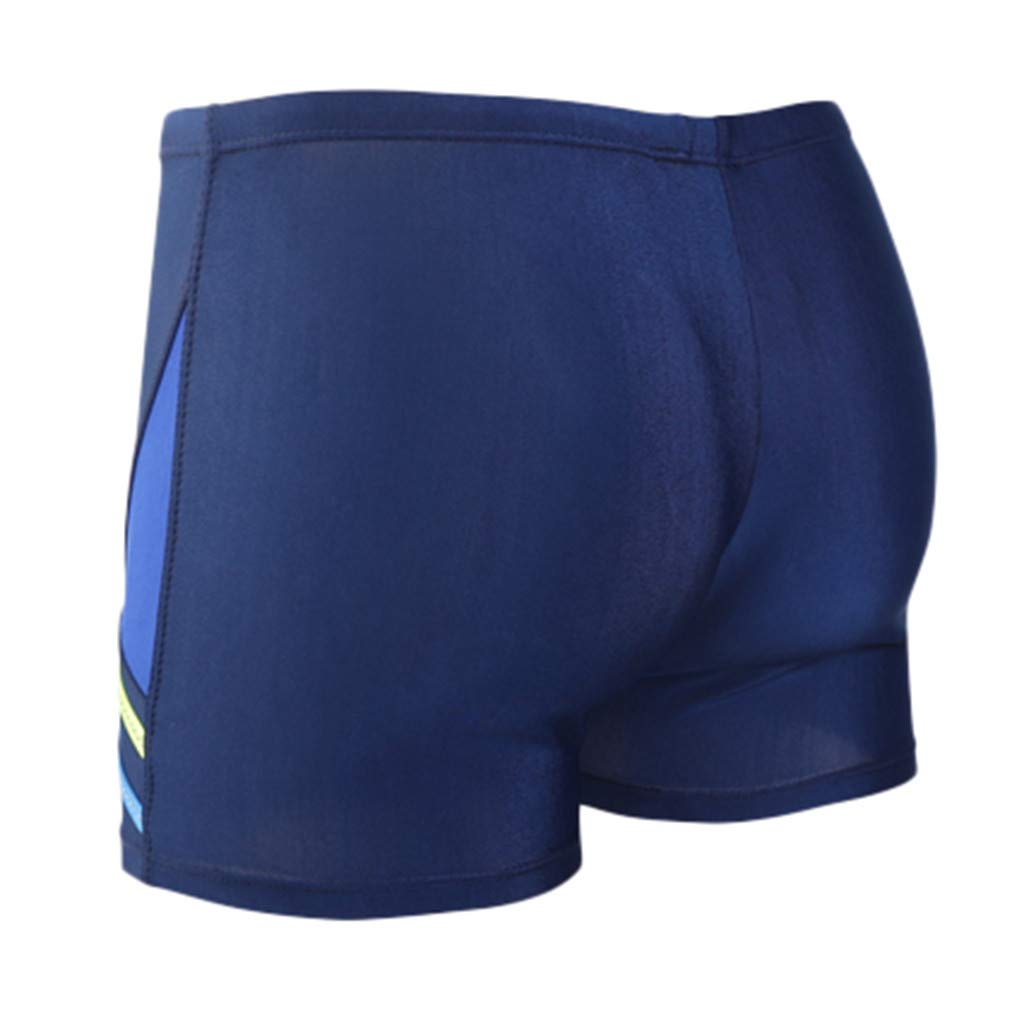 Summer Shorts Plus Size Simayixx Men Basic Swimming Trunk Surf Shorts Swimsuits Boxer Briefs Big and Tall Outdoor Pants Blue by Simayixx Blouse (Image #4)