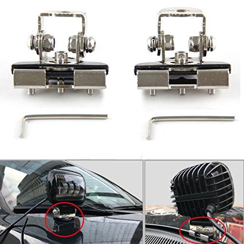 sktyants Universal soportes de montaje cubierta del motor capó acero inoxidable para Jeep coche Auto Offroad excavadora...