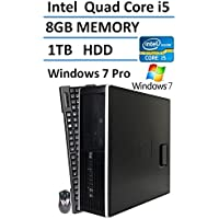 2016 HP 8300 Elite Small Form Factor Desktop Computer (Intel Quad Core i5 up to 3.6GHz Processor), 8GB DDR3 RAM, 1TB HDD, USB 3.0, DVDRW, Windows 7 Professional (Certified Refurbished)