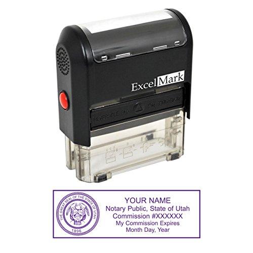 ExcelMark Self Inking Notary Stamp - Utah ()