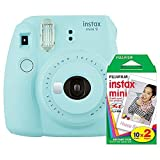 Photo : Fujifilm instax Mini 9 Instant Camera (Ice Blue) with Film Twin Pack Bundle (2 Items)