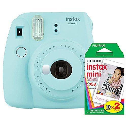 Fujifilm Instax Mini 9 (Ice Blue) Instant Camera with Mini Film Twin Pack by Fujifilm