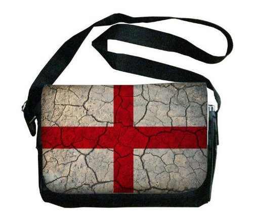 England Flag Crackledデザインメッセンジャーバッグ B00FMFKIS2