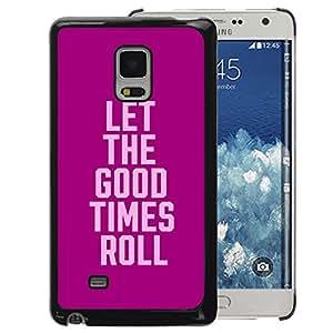 Supergiant (Purple Pink Party College Text Spring Break) Impreso colorido protector duro espalda Funda piel de Shell para Samsung Galaxy Mega 5.8