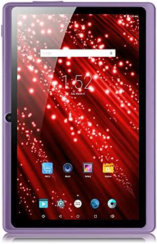 iRULU eXpro X1 7 Inch Google Android 4.4 Tablet, GMS Certified by Google, 1024x600 Resolution, Quad Core, 8GB Nand Flash -- Purple