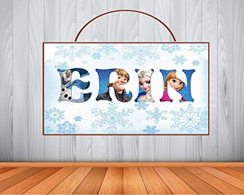Elsa /& Anna With Your Photo /& Name Personalised Frozen Canvas Print
