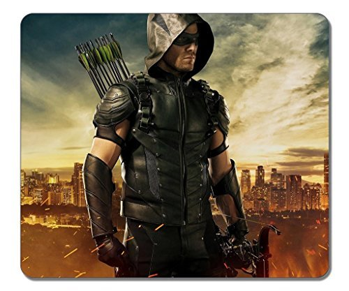 Price comparison product image Mouse pads, (Black)12 X 10 X 0.12in.Non-Slip Rubber Mouse Pad[Natural rubber, Durable heat-resistant Precision Fabric]Rectangular Gaming Mouse Pad-Cool Green Arrow Season