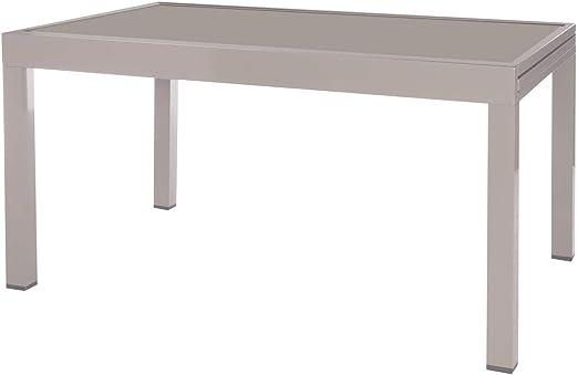 Mesa para jardín Extensible de Aluminio Gris Garden - LOLAhome: Amazon.es: Jardín