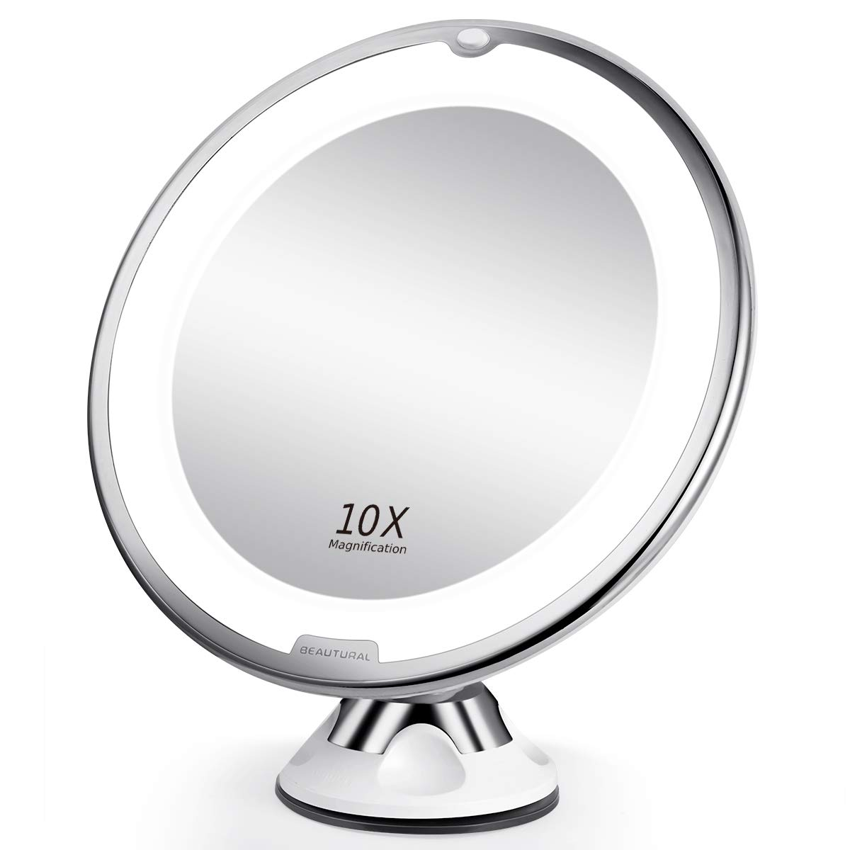 Beautural 10x Magnifying Makeup Mirror With Led Lighted
