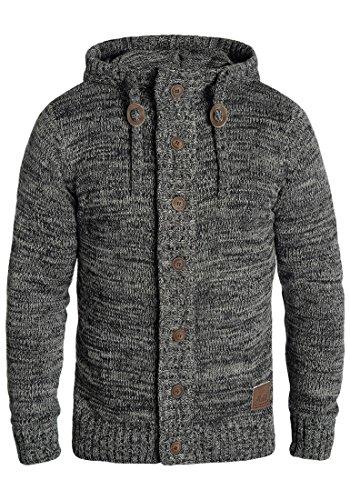 Pierrot da uomo 100 cappuccio cotone con 9000 Solido Cardigan nero Vest Giacca ZYZdHw