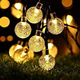 Solar String Lights,OxyLED 60 LED Garden Patio Outside String Lights,Waterproof Indoor/Outdoor String Lights, Great Garden Terrace Patio Outside Xmas Lights(Ambiance Light)