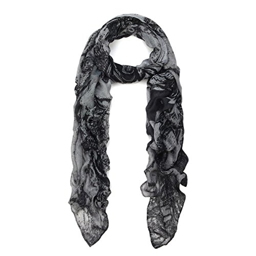 Premium Long Paisley Floral Scarf Wrap - Different Colors Available
