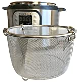 InstaPot 6 Qt Steamer Basket or Pot - Vegetables, Eggs, Meats, etc - Stainless Steel Built to fit Insta Pots Perfectly