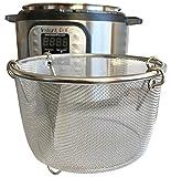 InstaPot 6 Qt Steamer Basket or Pot - Vegetables, Eggs, Meats, etc - Stainless Steel Built to fit...