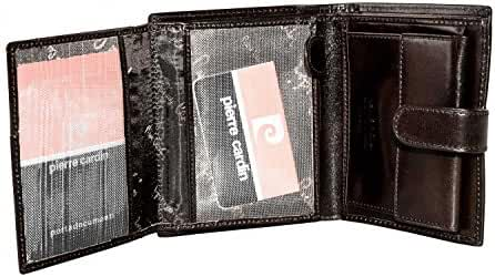 Wallet man vertical PIERRE CARDIN moro leather with button opening A3639