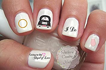 Amazon.com : Wedding Nail Art Decals : Beauty