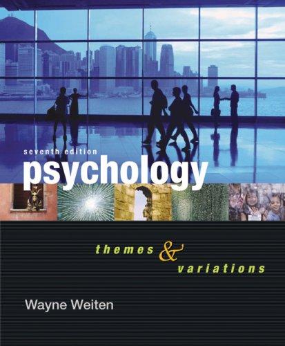 Cengage Advantage Books: Psychology: Themes and Variations (Thomson Advantage Books)