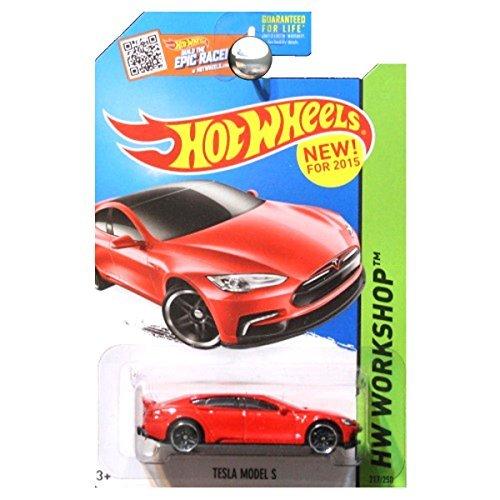 Hot Wheels 2015 HW Workshop Tesla Model S 217/250, Red
