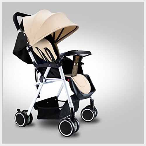 YBL Baby Stroller for Infant City Select Folding Convertible Baby Carriage Stroller Four Wheels Newborn Doll carriage Lightweight stroller Can lie down Four seasons are available by YBL