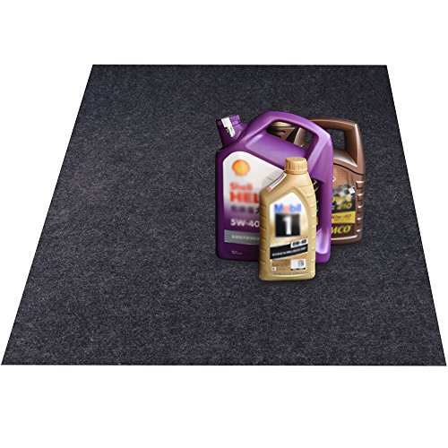 - KALASONEER Oil Spill Mat,Absorbent Oil Mat Reusable Washable,Contains Liquids, Protects Driveway Surface,Garage Or Shop,Parking,Floor(36inches x 60inches)