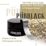 Pürblack Live Resin True Gold & Silver Shilajit - Genuine, High-Efficacy, 4th Generation Shilajit (15g Jar with Pürscale)