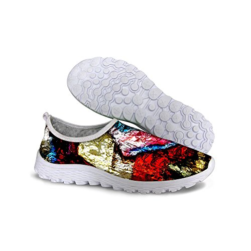 Print Walk FOR Running Black Women's Pigment Colorful Shoes Mesh Casual DESIGNS U B88w4I