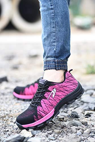 Rosa S3 In Per Donna Sneaker Cantiere Sicurezza Sportive E Punta Comodissime Uomo Calzature Di Antinfortunistiche Lavoro Axcer Escursionismo Con Da Traspiranti Stivali Scarpe Acciaio gIaqwgOd